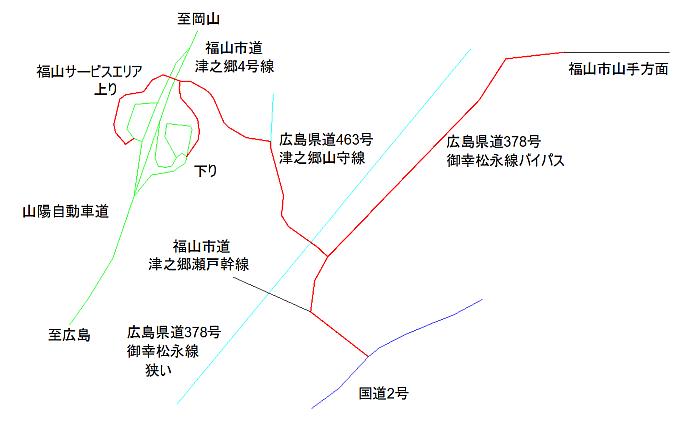 スマートインター周辺地図