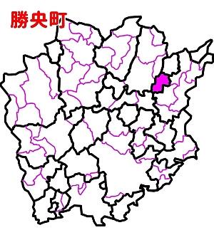 勝央町位置図