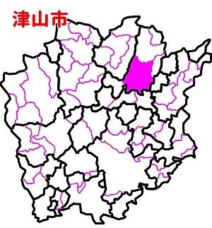 津山市位置図