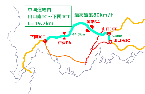 ルート1:中国道経由
